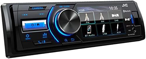JVC KD-X561DBT USB-Autoradio mit DAB+, Bluetooth und 3' TFT-Farbdisplay (Rückfahrkameraeingang, AUX-Eingang, MP3, WMA, FLAC, DSP, 4 x 45 Watt)