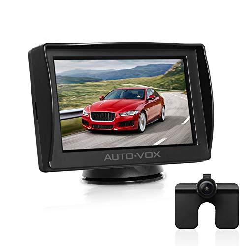AUTO-VOX M1 Rückfahrkamera mit Monitor, IP68 wasserdichte AutoKamera für Einparkhilfe Rückfahrhilfe mit Stabiler Signalübertragung, 4.3'' TFT LCD Rückansicht Bildschirm
