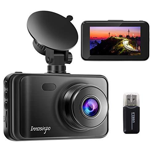 Dashcam 1080P FHD Autokamera mit 32 GB Micro SD-Karte 3.0 Zoll LCD Dashcam mit Super Nachtsicht, 170° Weitwinke, G-Sensor, Loop-Aufnahme, Bewegungserkennung, Parküberwachung, WDR