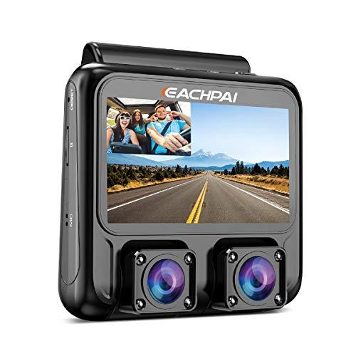 EACHPAI X100 Plus 4K HD WiFi Dashcam, Dual Camera Autokamera für Vorne und Hinten, 3' Screen Dash Cam mit GPS und Nachtsicht