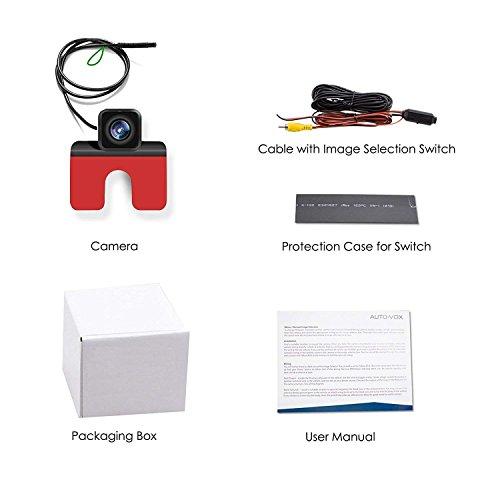AUTO-VOX CMD24 HD Auto Rückfahrkamera Rückansicht-Kamera ideal für EU-Kennenzeichen Einparkhilfe&Rückfahrhilfe mit Weitwinkelobjektiv IP68 wasserdicht für die meisten Automodell inklusiv Truck&RV