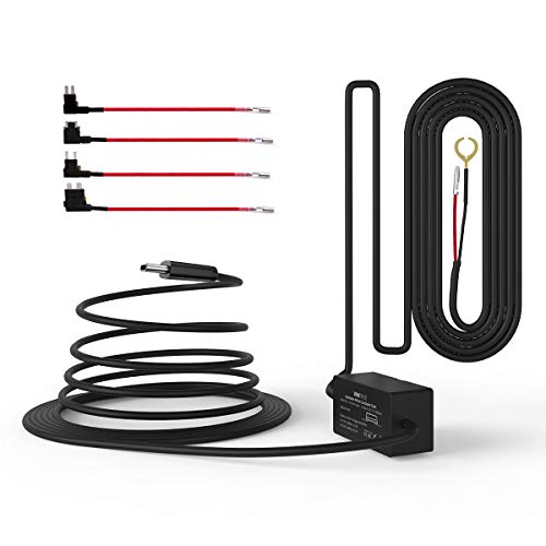VANTRUE N4/ N2S/ T3 Dashcam USB-C Hardwire Kit, 12V/24V (USB-C) zu 5V (Mini/ACS/ATO/ Micro2), Sicherungshalter mit Niederspannungsschutz, 24Std. Parküberwachung, kompatibel mit USB-C Dash Cam