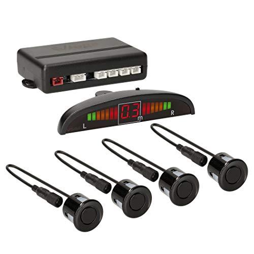 VSG24 22121 – Premium Einparkhilfe Set, Farb Display & Akustisches Signal, Park System inkl. 4 Sensoren, e13-Zulassung, Automatisch, Hinten - Schwarz