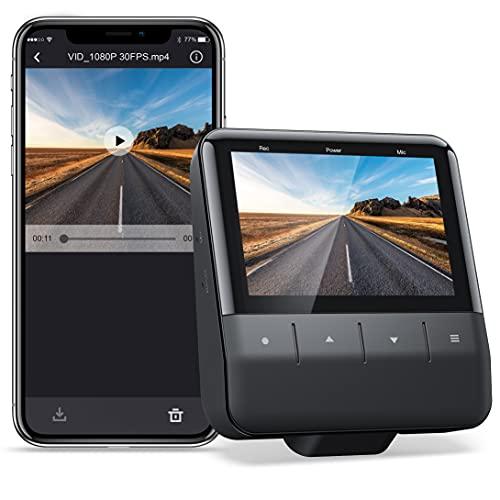 WiFi Dashcam Auto Mit App, Autokamera 1080p FHD, Starvis IMX307 Sensor, Super Nachtsicht, Parküberwachung, Unterstützung 128G Max, GPS-fähige