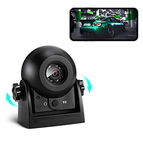 Kabellose Rückfahrkamera, Uzone WiFi Auto magnetische Rückfahrkamera Super Nachtsicht IP68 Wasserdicht Rückfahrkamera Parkkamera-Anhängerkupplung für LKW, Wohnmobil, Wohnwagen, Anhänger
