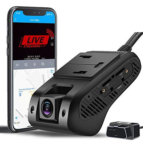 4G & WiFi Dual Dashcam Vorne und Innen Autokamera mit 1080P FHD Dashcam mit Live Video  GPS Tracking  G-Sensor Parküberwachung   Loop-Aufnahme   Nachtsicht   SOS-Notruffunktion   Verhaltensanalyse