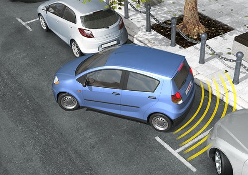 BOSCH 0263009565 Parkpilot URF7, optische und akustische universal Einparkhilfe mit 4 Sensoren