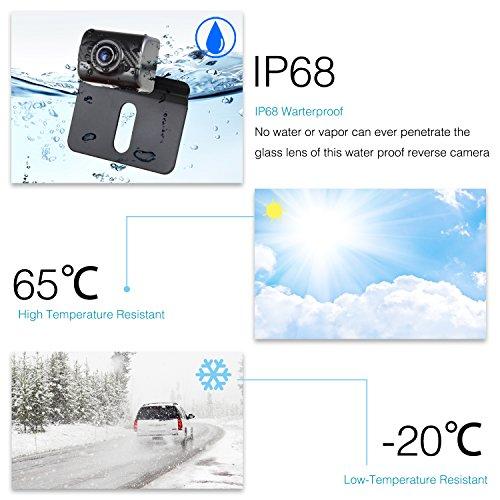 AUTO-VOX Rückfahrkamera Drahtlos Set mit 4.3' Zoll/11 cm LCD Monitor, Wireless Einparkhilfe 12V-24V mit IP68 wasserdichte Digital Rückfahrkamera mit Gute Nachtsicht (TD2)