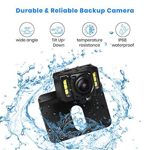 AUTO-VOX M1PRO Rückfahrkamera Set mit 4,3'' TFT LCD Monitor, IP68 wasserdichte Rückfahrkamera mit Nachtsicht, 165° Weitwinkel, Rückfahrkamera Kabel mit Stabiler Signalübertragung (Upgrade)