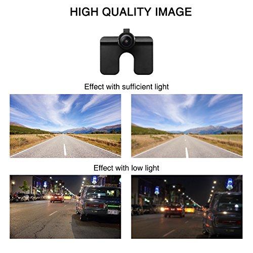 Auto-Vox CAM6 Auto Rückfahrkamera 170 Grad Weitwinkelobjektiv IP68 Wasserdichte stark Nachtsicht, für Rückfahrhilfe&Einparkhilfe ideal für die meisten Automodell inklusiv Truck&RV