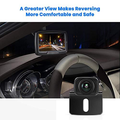 AUTO-VOX Digital Kabellos Rückfahrkamera CS2, Drahtlose Rückfahrkamera mit 4,3' LCD Monitor, Funk Rückfahrkamera mit IP68 Wasserdicht, Nachtsicht, Interne Antenne, Einfache Installation