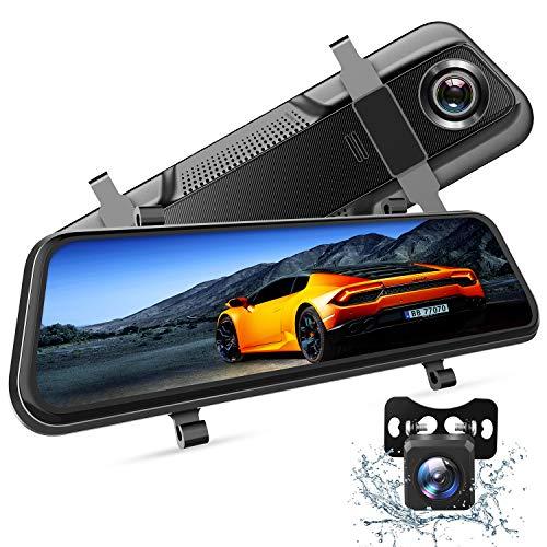 VanTop H609 Dashcam Rückspiegel, FHD 1080P Dashcam Auto vorne hinten, mit 10'IPS Voll Touchscreen, 170° Weitwinkel, Nachtsicht mit STARVIS Sensor, Parkmonitor, Loop-Aufnahme, Einparkhilfe, G-Sensor