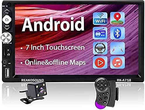 Android Autoradio - 2din Autoradio mit Bluetooth Freisprecheinrichtung/GPS Navi / Rückfahrkamera, 7 Zoll Touchscreen Multimedia Player mit Mirrorlink WiFi / FM / AUX / USB / TF von Hodozzy