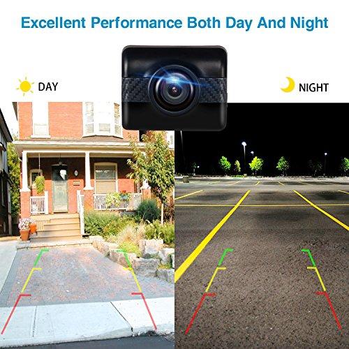 AUTO-VOX TD2 Rückfahrkamera Drahtlos Set mit 4.3' Zoll LCD Monitor, Wireless Einparkhilfe 12V mit IP68 wasserdichte Digital Rückfahrkamera mit Gute Nachtsicht